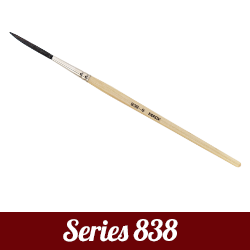 MackBrush マック・ブラシ Mack Outliner Series838 Blk Synthetic Goat Mix シリーズ
